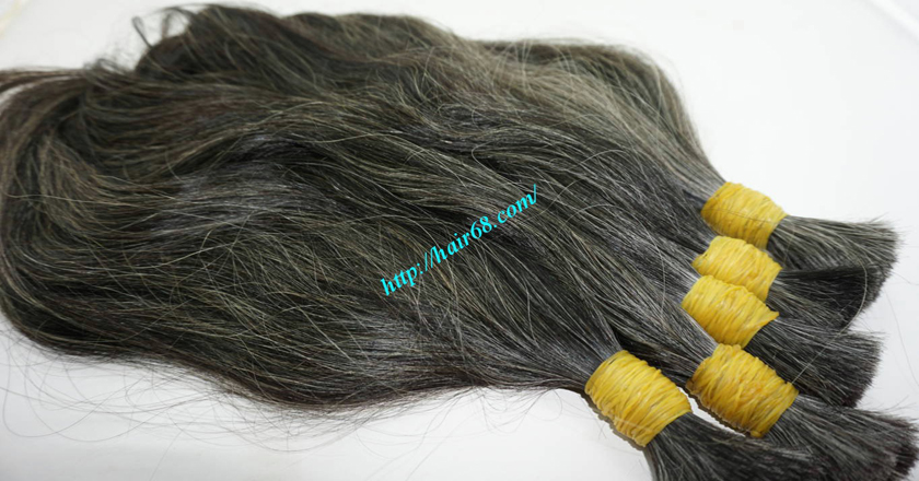 8 inch natural grey hair 4