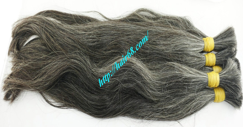 8 inch natural grey hair 6