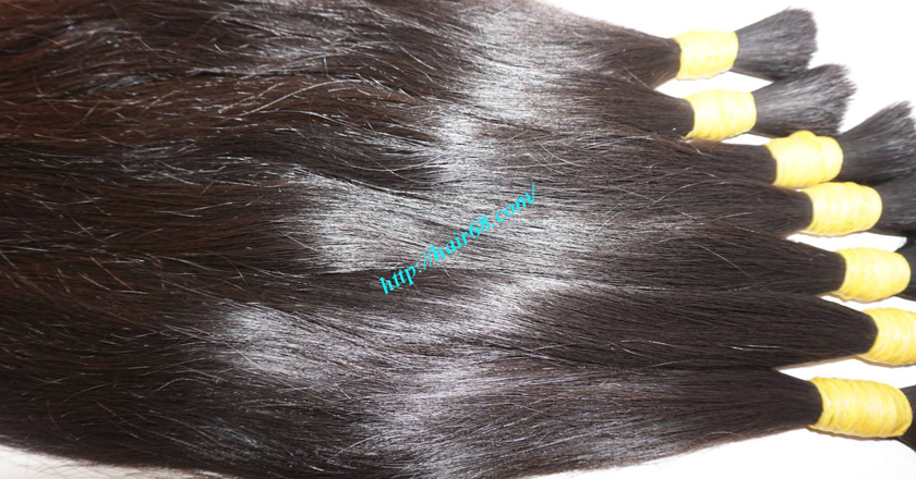 8 inch thick human hair extensions 1