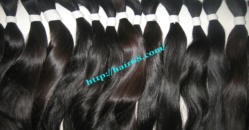 8 inch thick human hair extensions 3