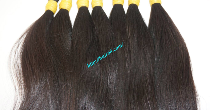 8 inch thick human hair extensions 5