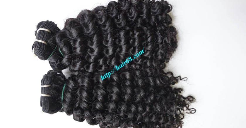 10 inch Cheap Curly Hair Weave Extensions 3