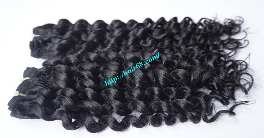 10 inch Remy Curly Weave Extensions – Single Drawn 1