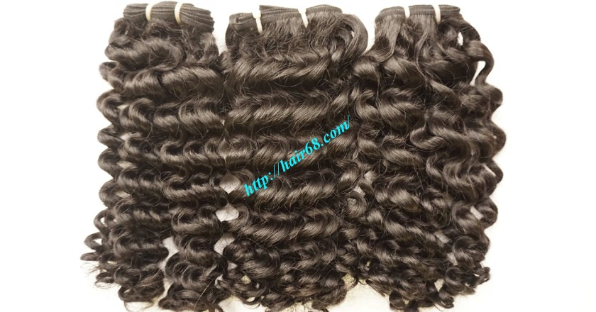 10 inch Remy Curly Weave Extensions – Single Drawn 2