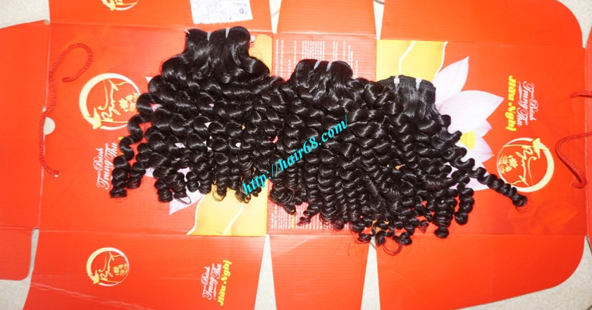 10 inch Remy Curly Weave Extensions – Single Drawn 6
