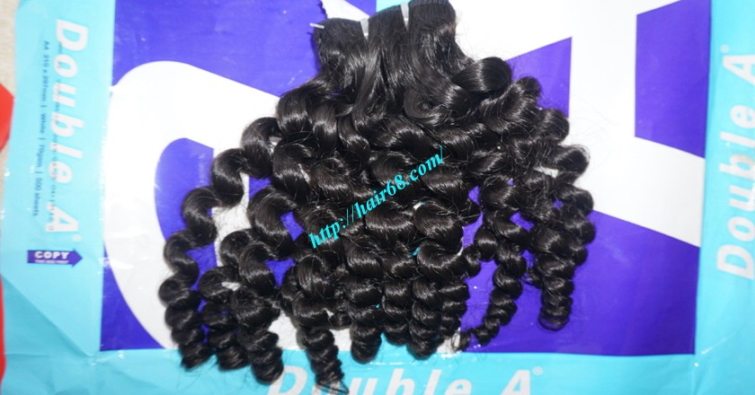 10 inch Remy Curly Weave Extensions – Single Drawn 7