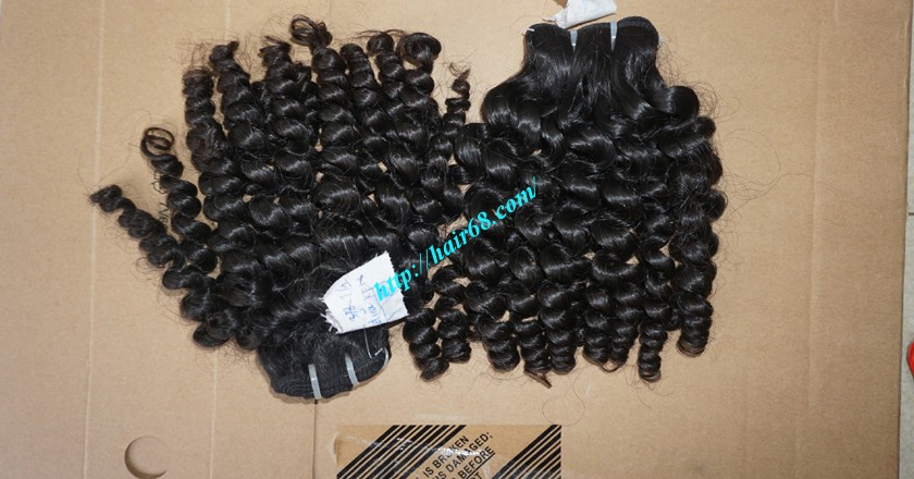 10 inch Remy Curly Weave Extensions – Single Drawn 8