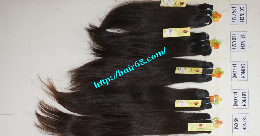 10 inch cheap human hair weave single straight 11