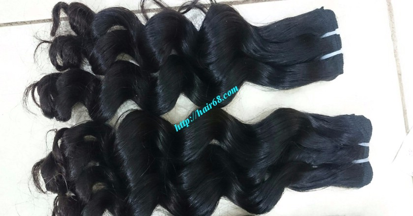 10 inch Wavy Hair Weaves Extensions - Steam Wavy 6
