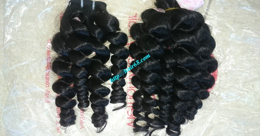 12 inch Weave Hair Extensions - Steam Wavy 4