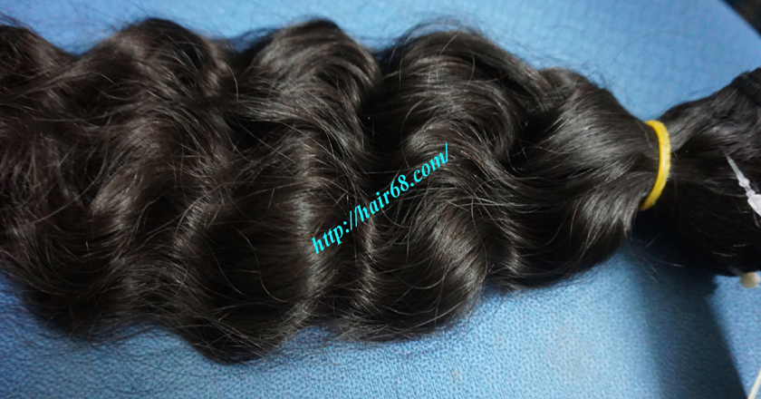 12 inch Wavy Hair Weave Extensions - Steam Wavy 1