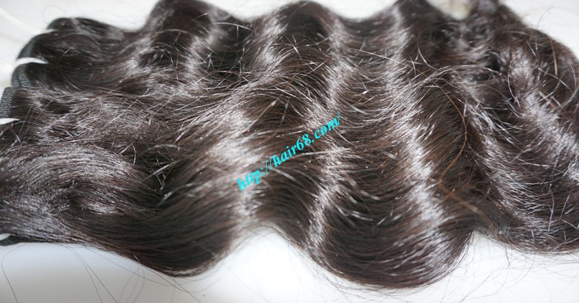 12 inch Wavy Hair Weave Extensions - Steam Wavy 2