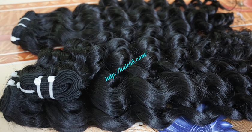 14 inch Curly Weave Remy Hair Extensions – Single Drawn 1