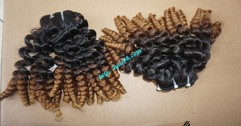 14 inch Curly Weave Remy Hair Extensions – Single Drawn 4