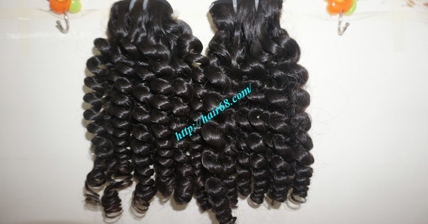 14 inch Curly Weave Remy Hair Extensions – Single Drawn 6