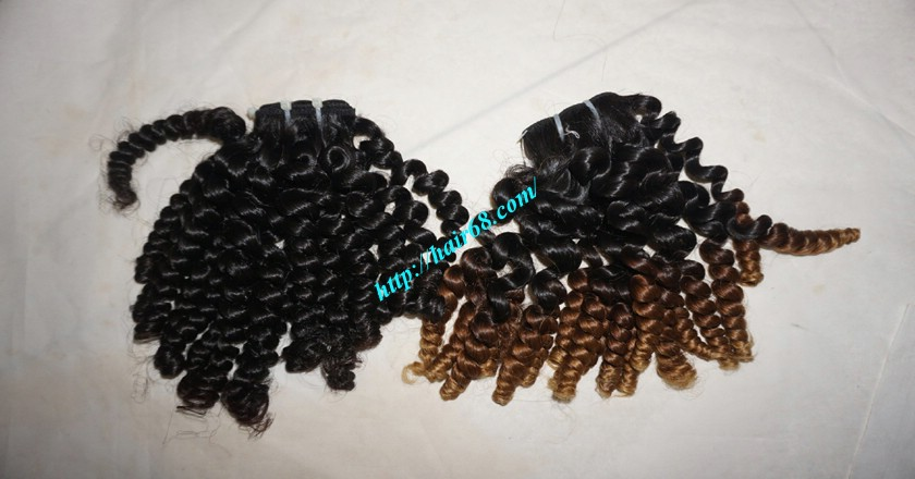 14 inch Curly Weave Remy Hair Extensions – Single Drawn 7