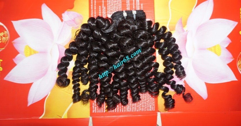 14 inch Curly Weave Remy Hair Extensions – Single Drawn 8