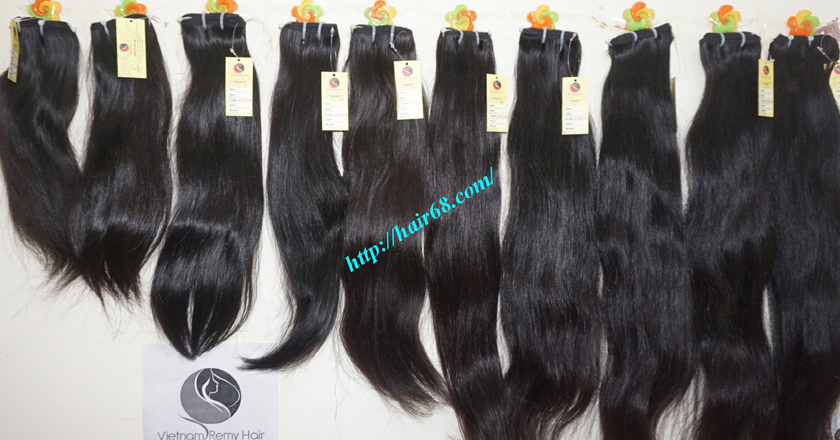 14 inch natural human hair weave single straight 11