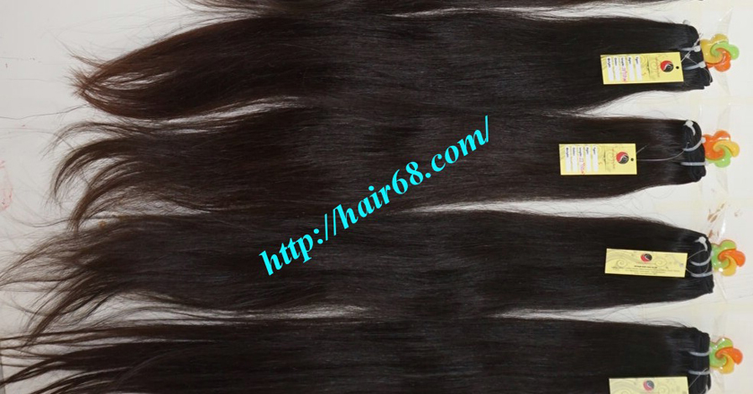 14 inch natural human hair weave single straight 12