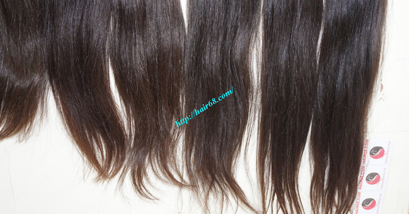 14 inch natural human hair weave single straight 13