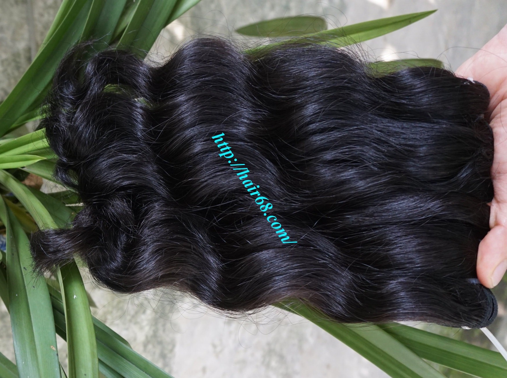 14 inch Remy Hair Weave Extensions - Steam Wavy 1