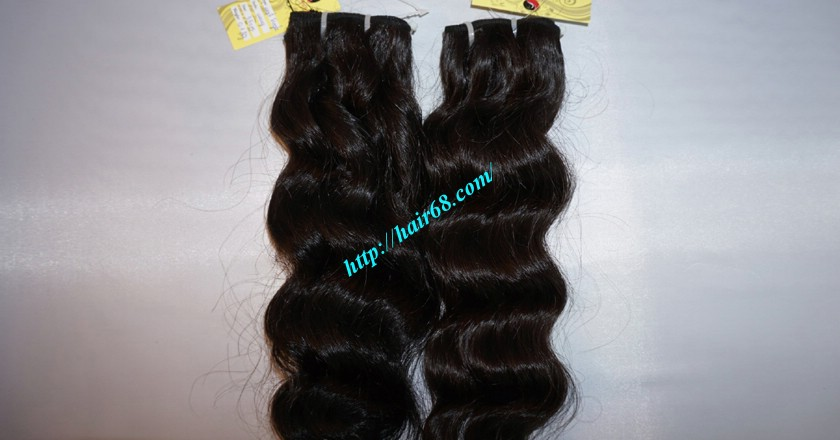 14 inch Remy Hair Weave Extensions - Steam Wavy 2