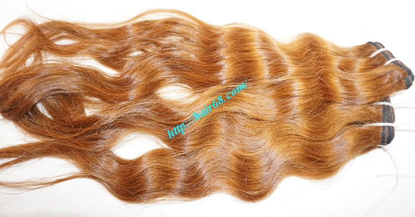 14 inch Remy Hair Weave Extensions - Steam Wavy 3