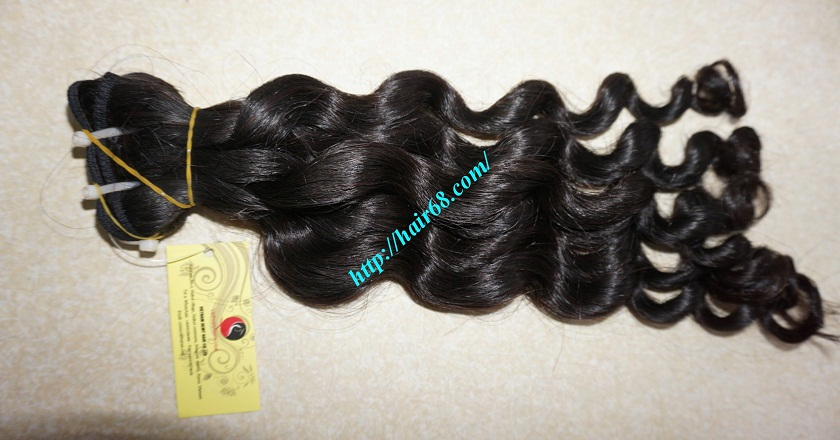 14 inch Remy Hair Weave Extensions - Steam Wavy 6