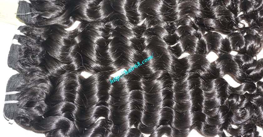 16 inch Curly Human Hair Weave Extensions 1