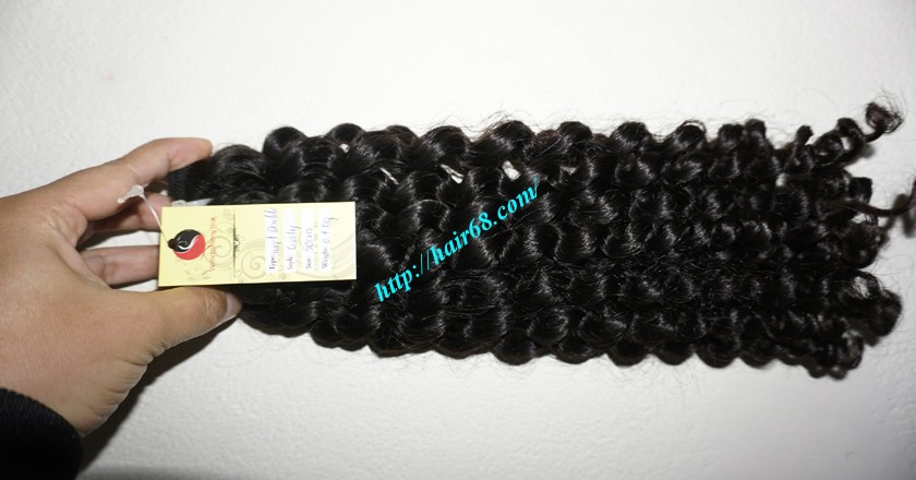 16 inch Curly Human Hair Weave Extensions 2