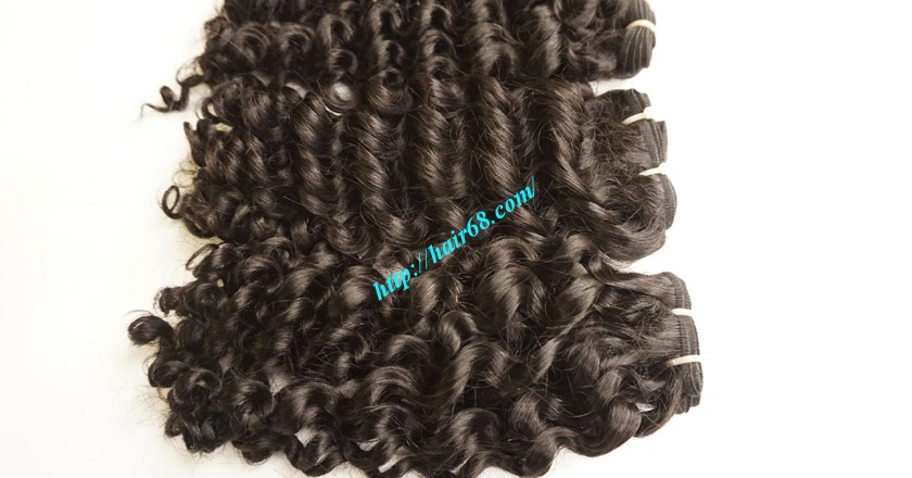 16 inch Curly Human Hair Weave Extensions 3