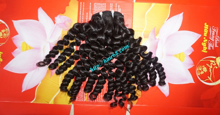 16 inch Curly Human Hair Weave Extensions 4