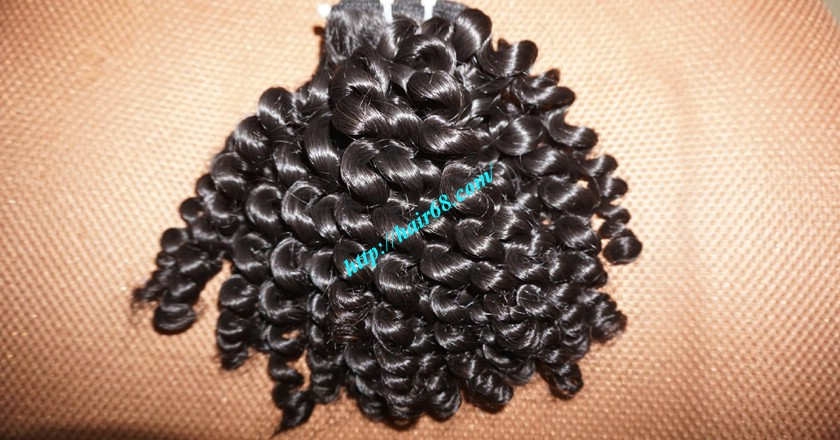 16 inch Curly Human Hair Weave Extensions 6