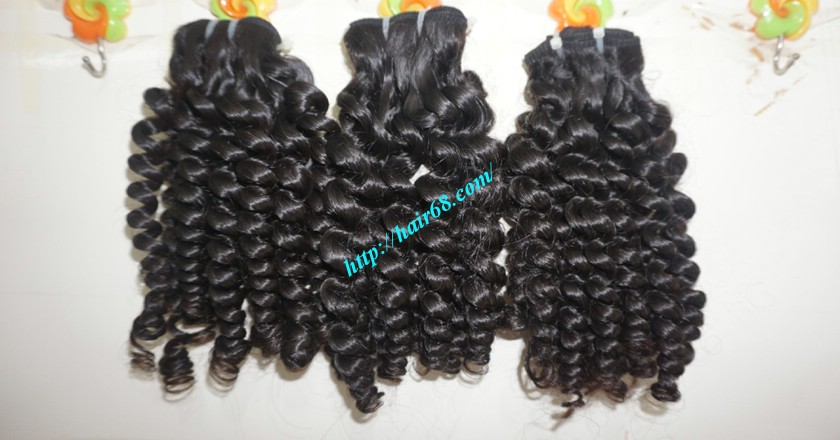 16 inch Curly Human Hair Weave Extensions 7