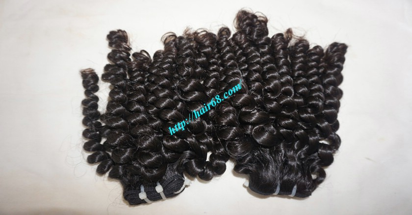 16 inch Curly Human Hair Weave Extensions 8