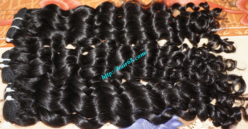 16 inch Best Curly Human Hair Weave – Single Drawn 1
