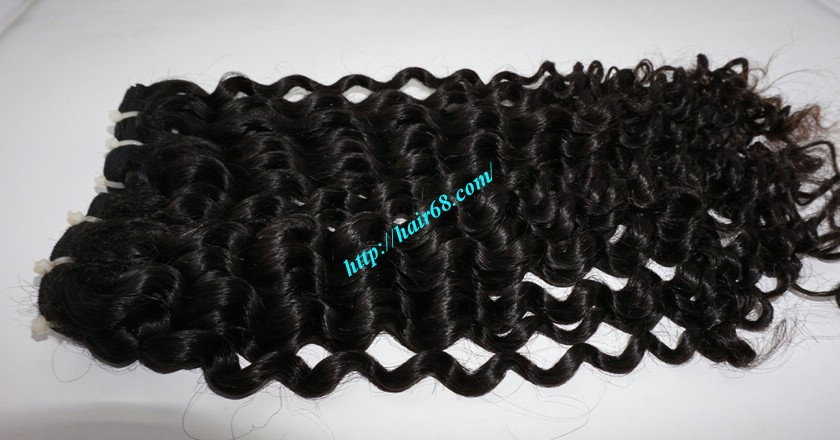 16 inch Best Curly Human Hair Weave – Single Drawn 2