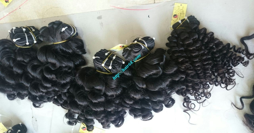 16 inch Best Curly Human Hair Weave – Single Drawn 3