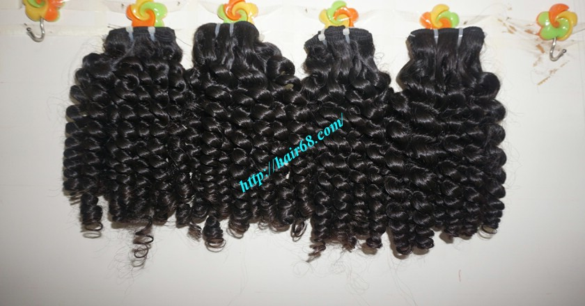 16 inch Best Curly Human Hair Weave – Single Drawn 4