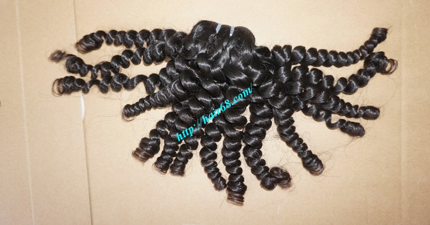 16 inch Best Curly Human Hair Weave – Single Drawn 5