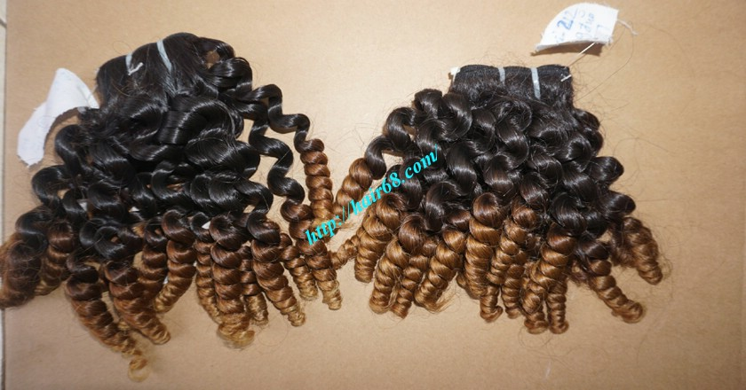 16 inch Best Curly Human Hair Weave – Single Drawn 7