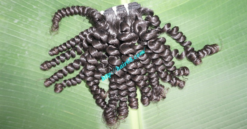 16 inch Best Curly Human Hair Weave – Single Drawn 8