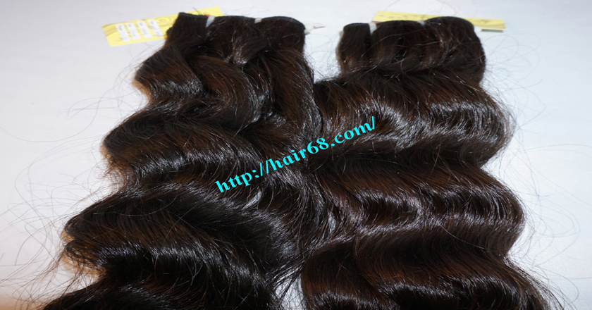 16 inch Weave Remy Hair Extensions - Steam Wavy 10