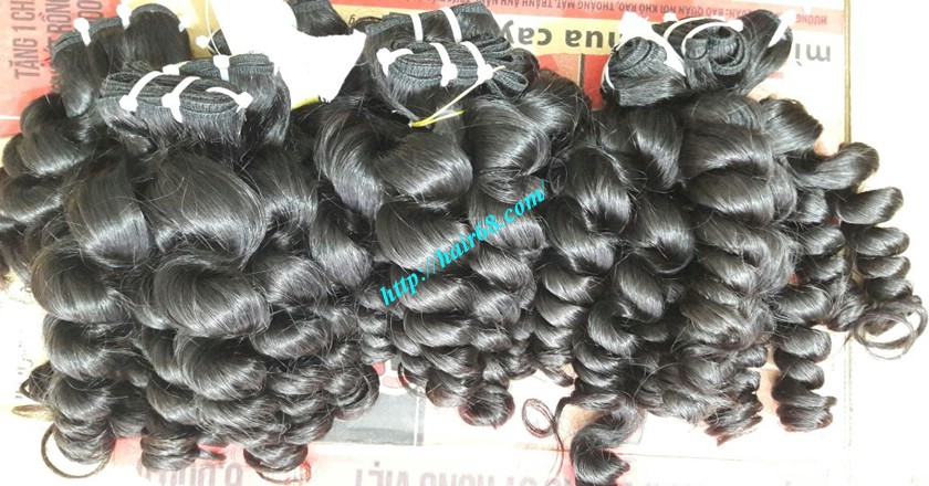 16 inch Weave Remy Hair Extensions - Steam Wavy 11