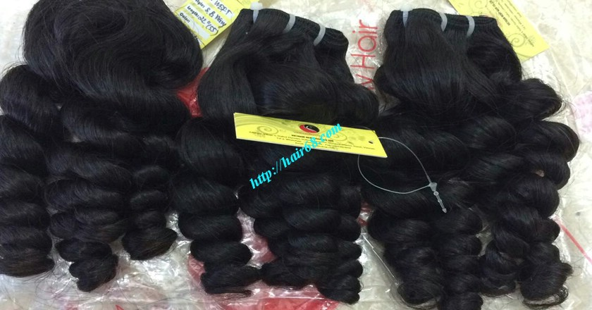 16 inch Weave Remy Hair Extensions - Steam Wavy 12