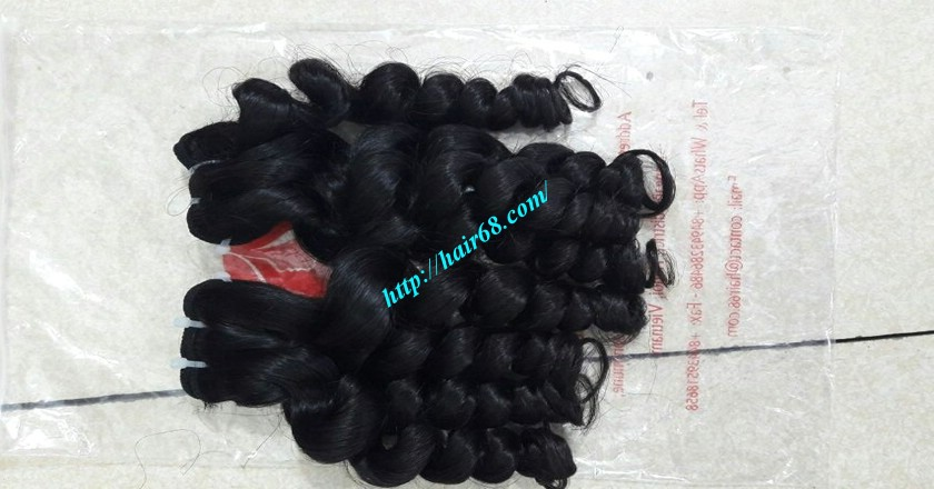 16 inch Weave Remy Hair Extensions - Steam Wavy 13