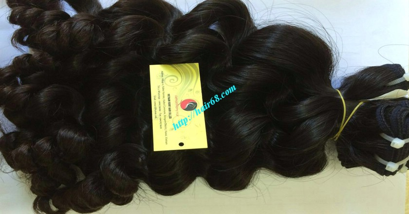 16 inch Weave Remy Hair Extensions - Steam Wavy 14