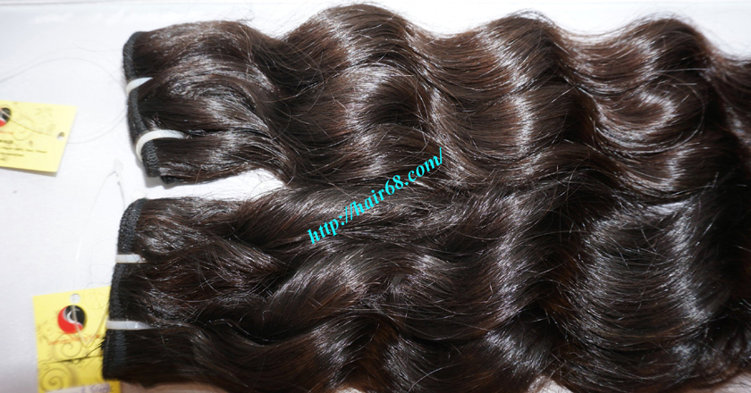 16 inch Weave Remy Hair Extensions - Steam Wavy 3