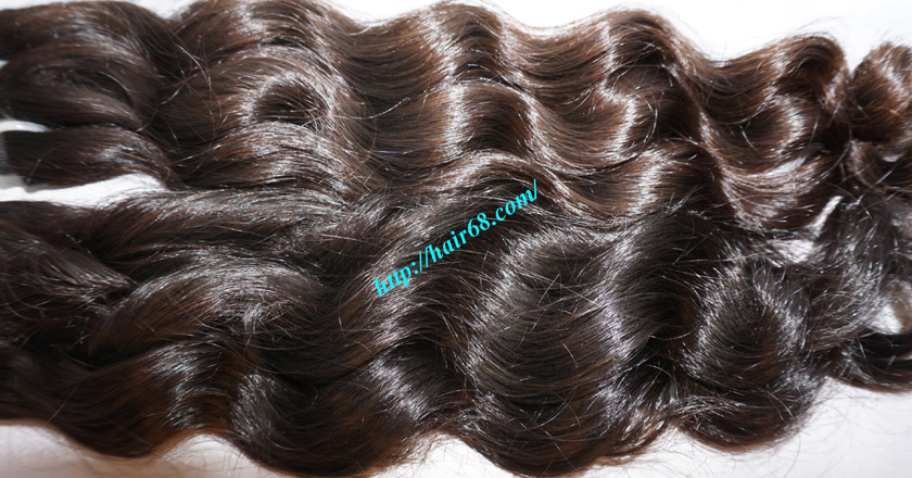16 inch Weave Remy Hair Extensions - Steam Wavy 4