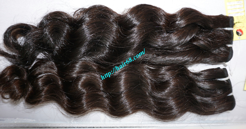 16 inch Weave Remy Hair Extensions - Steam Wavy 6